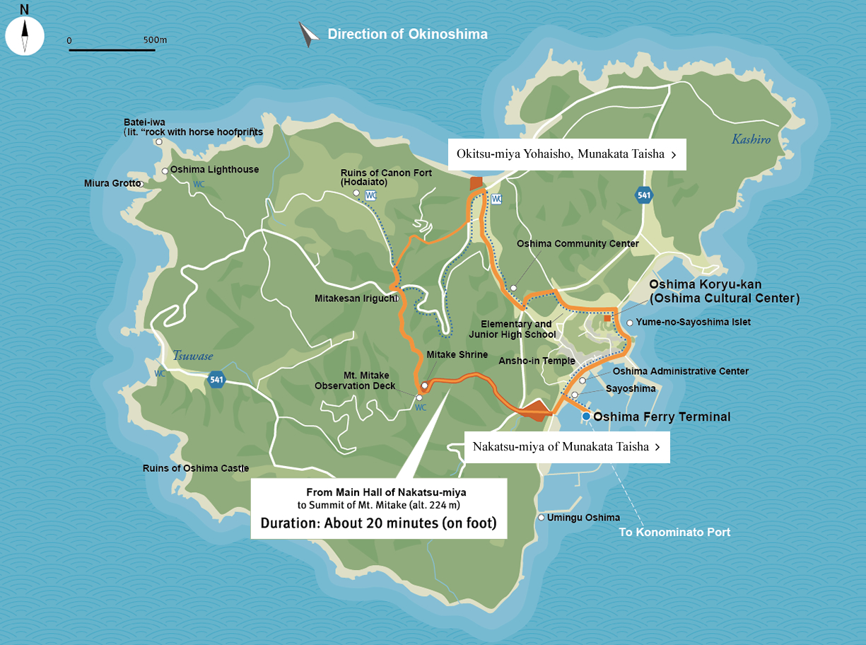 Guide map of Oshima