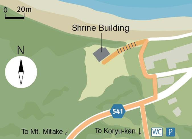 Map of Okitsu-miya Yohaisho