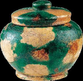 奈良三彩小壺
